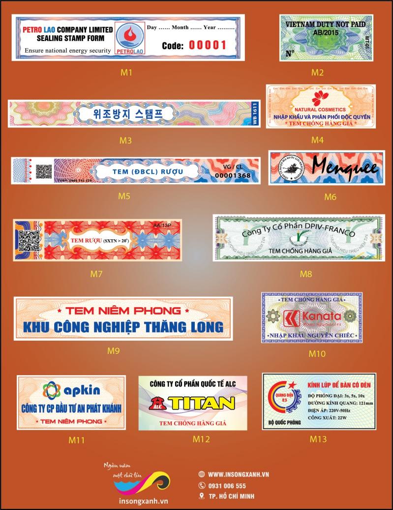 In tem bảo hành chất lượng cao số lwuongj ít và nhiều