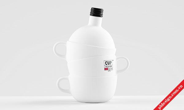 Thiết kế bao bì CUP Wine