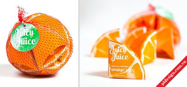 Thiết kế bao bì nước trái cây.