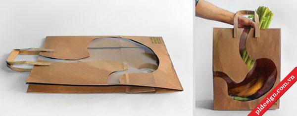 Bao bì túi giấy sáng tạo.