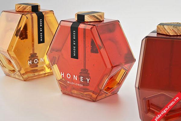 Bao bì độc đáo, tiện dụng của Mật ong HONEY