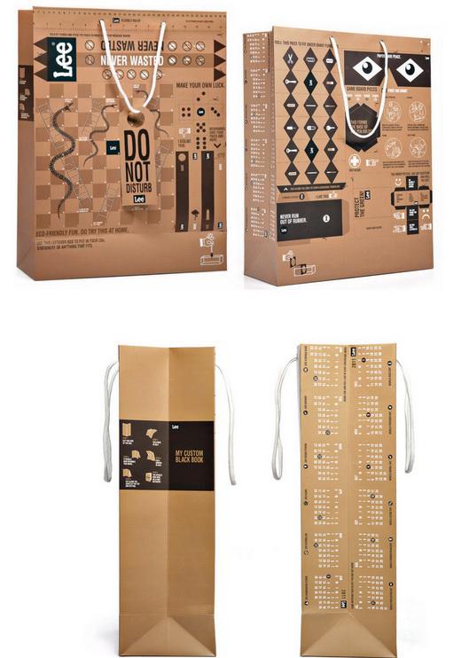 mẫu túi giấy sáng tạo
